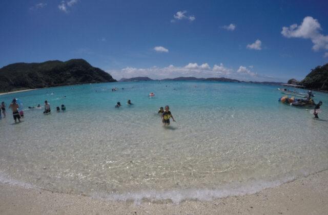 渡嘉敷島のビーチ