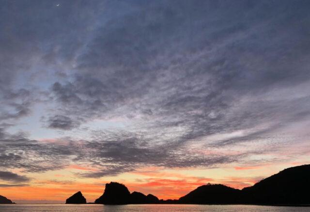 慶良間諸島で見られるサンセット